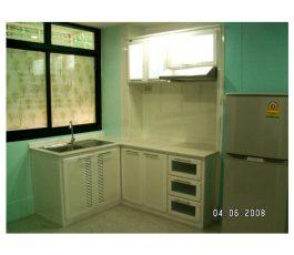 ชุดตู้อ่างล้างจาน อลูมิเนียม เข้ามุม